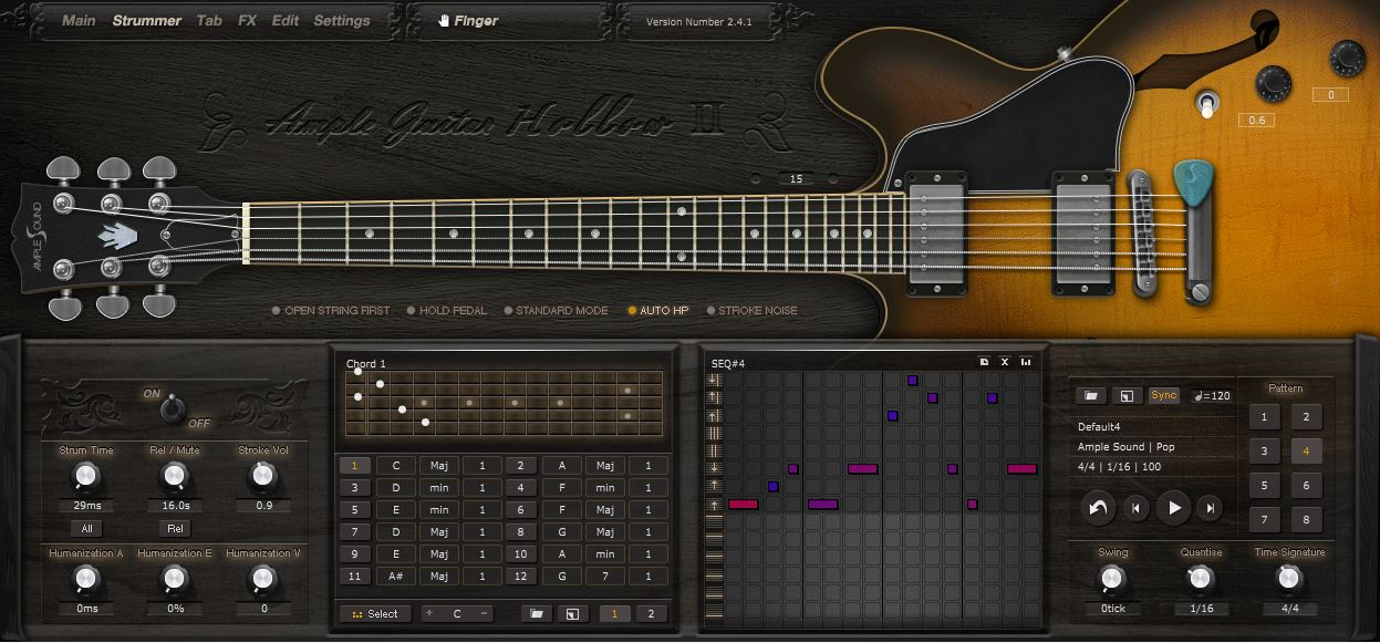 Review Ample Guitar Hollow Ii Fingerstyle From Amplesound Sample