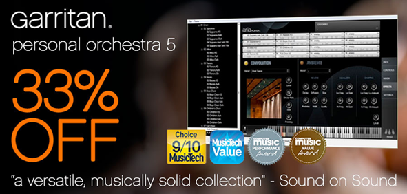 garritan announce 33 off personal orchestra 5 sample library review. Black Bedroom Furniture Sets. Home Design Ideas