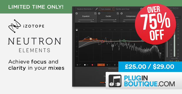 FLASH SALE: 77% OFF iZotope Ozone 8, RX & Neutron Elements - $29