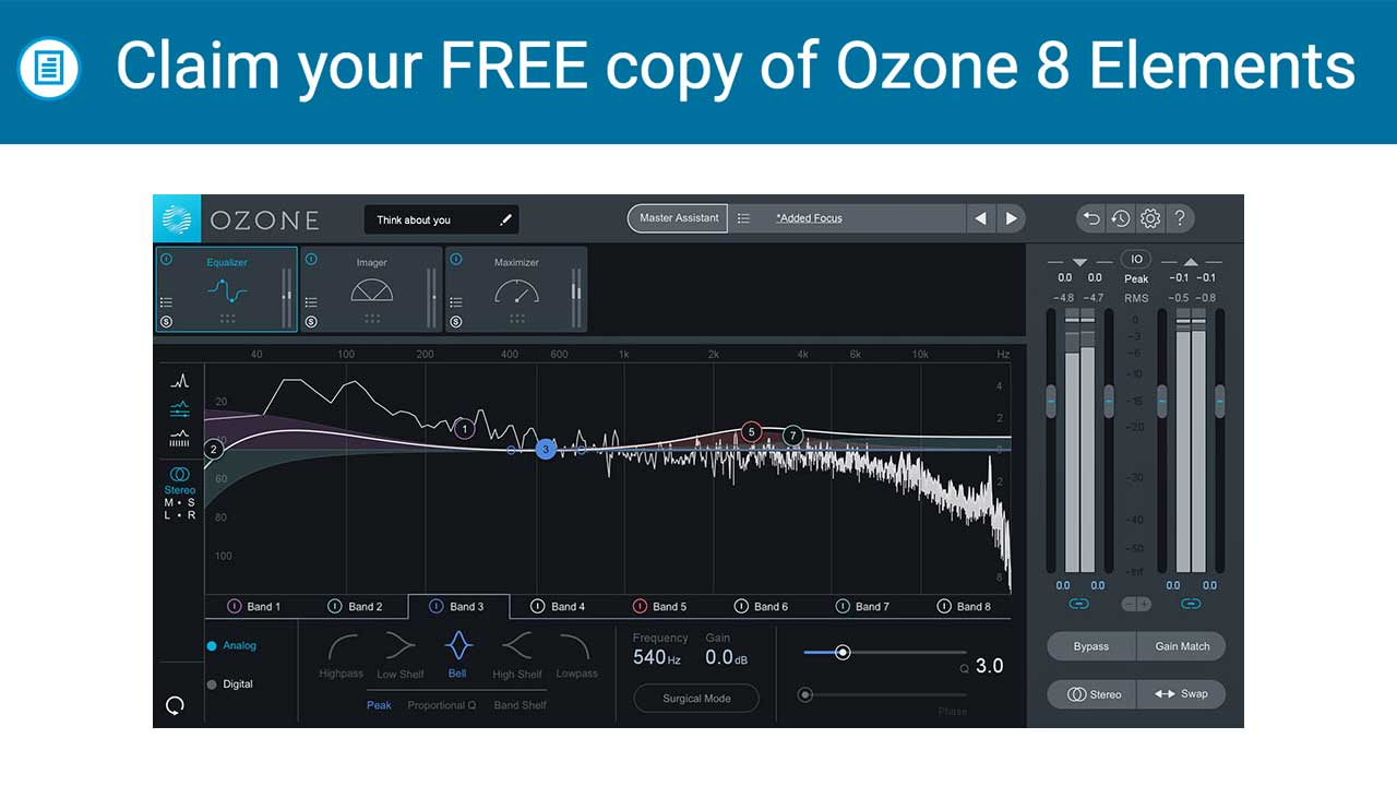 Claim your FREE copy of Ozone 8 Elements with sign up and $1