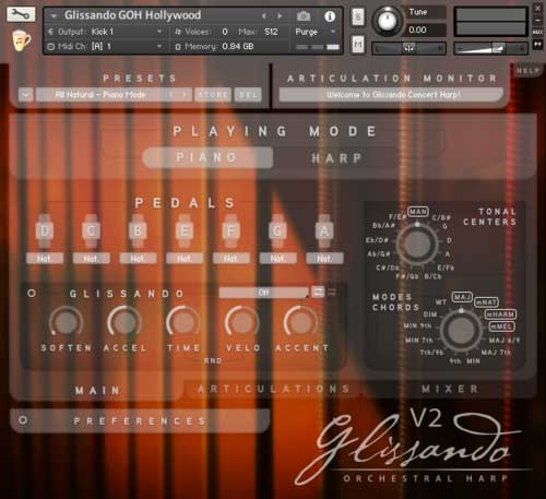 Chocolate Audio release Glissando Harps for Kontakt with