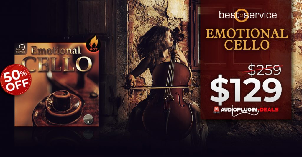 Audio Plugin Deals announce 50% OFF Emotional Cello by Best