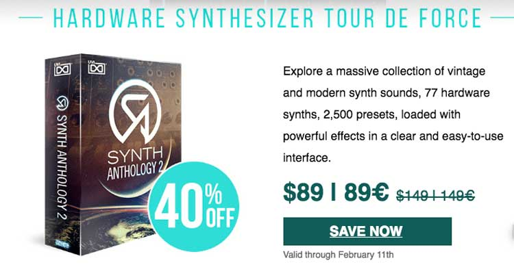 UVI announce 40% off Synth Anthology 2 Sale - Sample Library Review