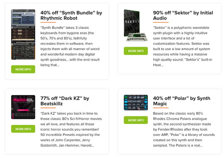 Vst Buzz announces Synth Week - 26 Instruments - Up to 90% off EACH