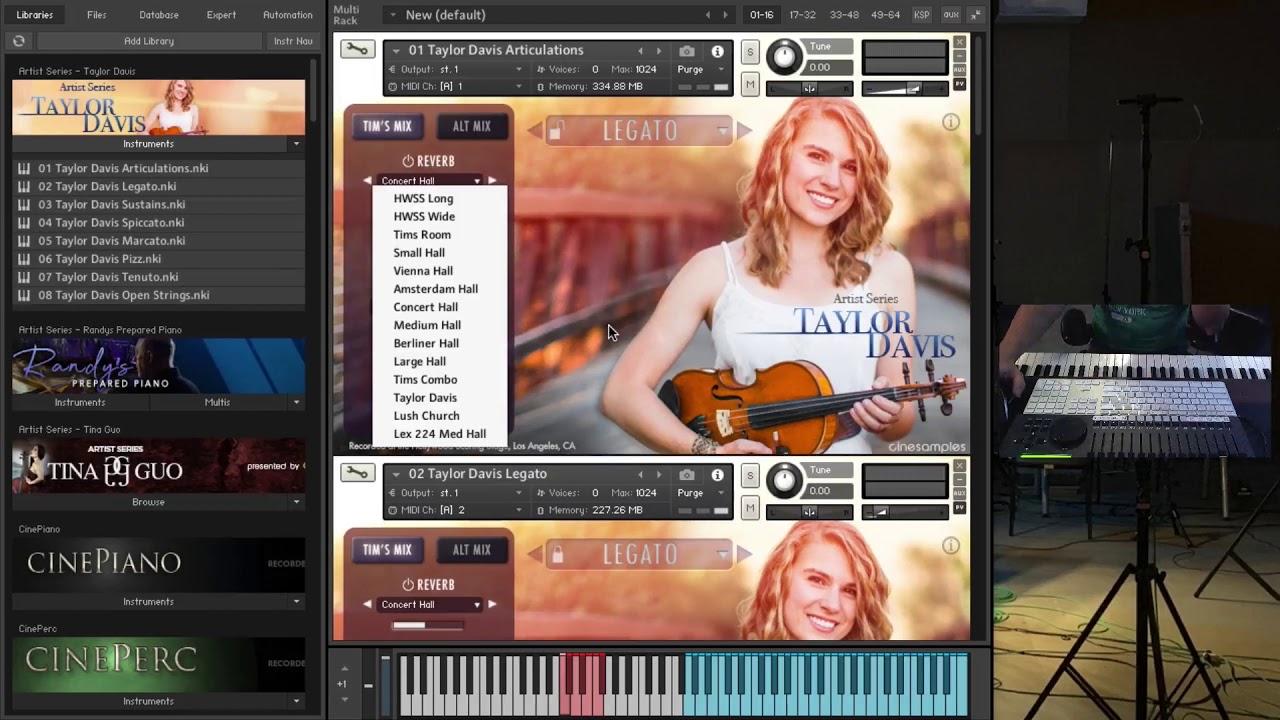 Cinesamples release Taylor Davis Solo Violin Kontakt Player