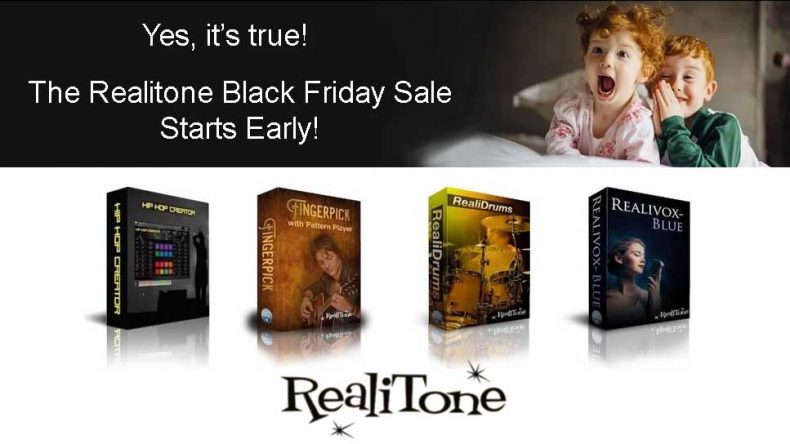 Realitone has announced a Black Friday Sale with up to 66